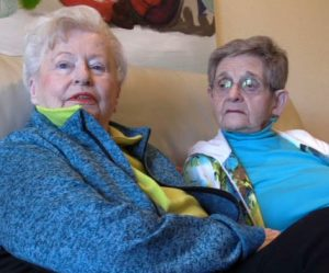 Joni Zimmerman and Mathile Rothschild, residents at Fountaingrove Lodge since 2013.