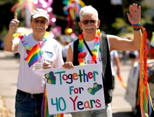 Senior Gay Pride marchers, June 2019