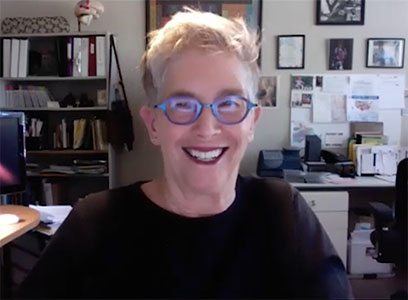 Outfest Now interviews Pam Walton (zoom image of Pam)